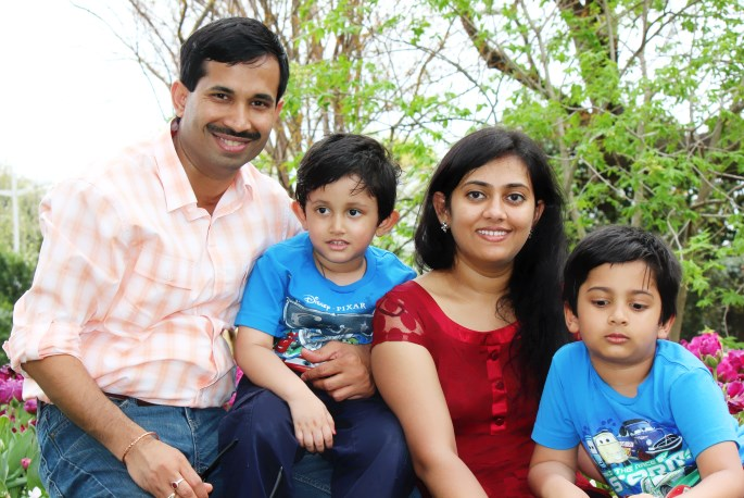 Kumar And Snigdha Family Picture With Boys