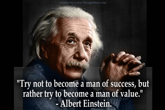 Einstein - Be A Man Of Values