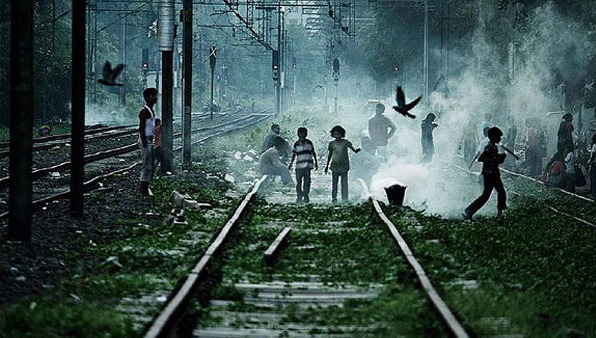 Children Playing On Railway Tracks - Story