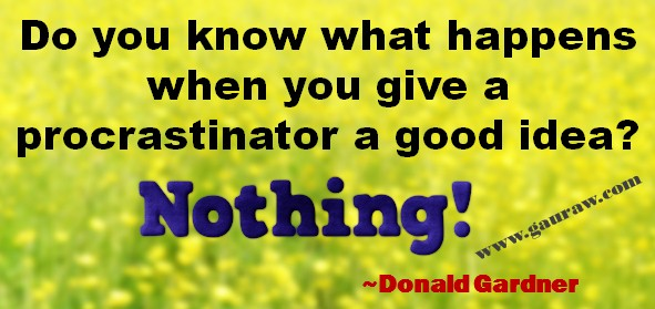 What Happens When You Give A Procrastinator A Good Idea? Nothing! - Donald Gardner