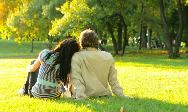 New Married Couple In Love Spending Time Together In Park