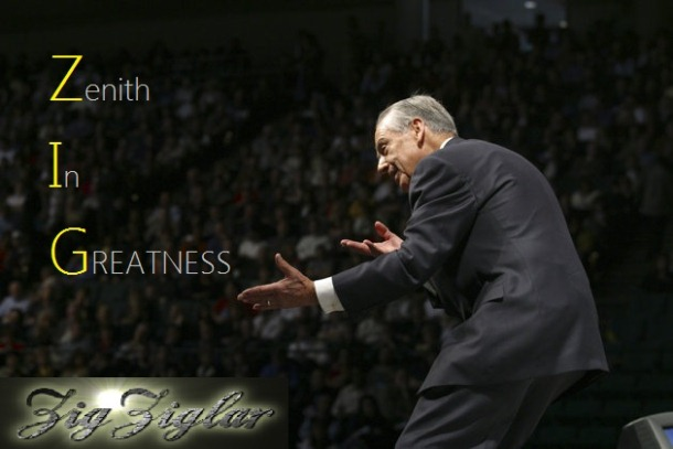 Zig Ziglar - The Motivator Speaking To The Audience From The Stage