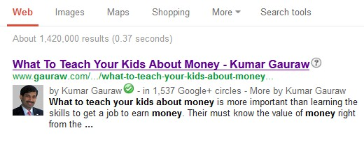 Powerful Brand Identity In Google Search Results With Authorship - Kumar Gauraw