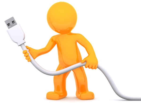 3D man holding a plug in hand to illustrate WordPress Plugins