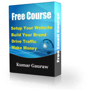 FREE Email Course On Professional Quality Website And Blog Setup