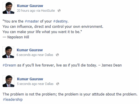 Facebook Hashtag Example Posts From Kumar Gauraw