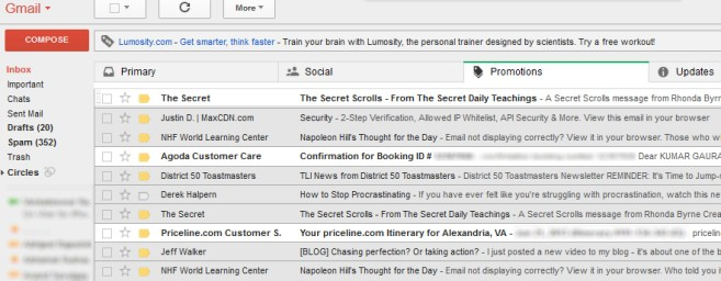 Gmail New Inbox - Important And Educational Emails In Promotions Tab