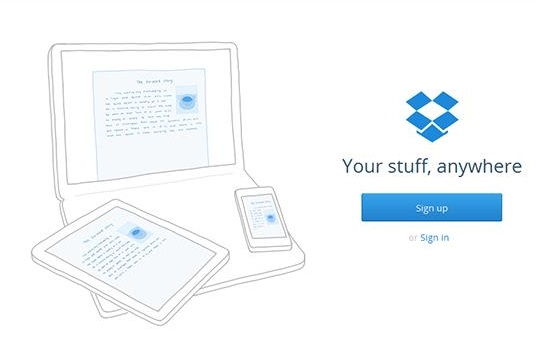 dropbox - cloud based storage for anywhere access