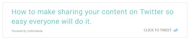 Example of Tweetable Box Created By ClickToTweet WordPress Plugin