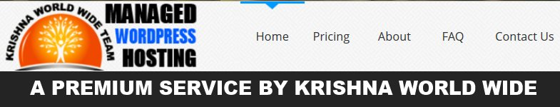 Krishna World Wide Hosting - A Premium Managed WordPress Hosting Service