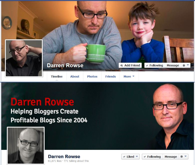 Darren Rowse - Facebook Profile And Facebook Page