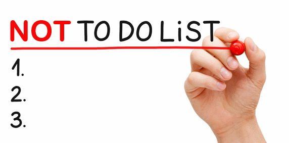 writing not-to-do list is as important as to-do-list for effective productivity in life