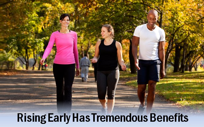 Benefits of getting up early are many - top-5 reasons listed along with video by Robin Sharma