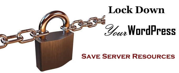 lock down WordPress Admin - Protect your website and server resources