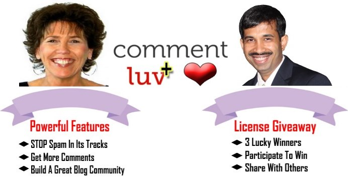 CommentLuv Premium Guest Post by Adrienne Smith With A Free Giveaway Premium Licenses by Andy Bailey