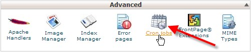 Cron Jobs Under Advanced section of cPanel